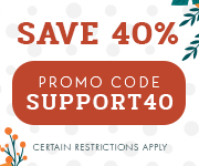 Save with promo code SUPPORT40